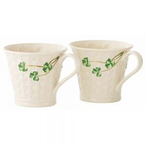 Belleek Classic Basketweave Mugs Set
