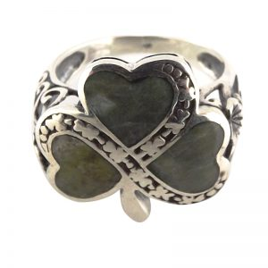 20046 – Inlaid Silver Shamrock Ring