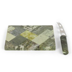 Connemara Marble Cheese Board & Knife