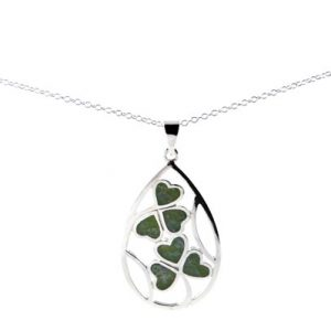 7025 Inlayed Shamrock Pendant