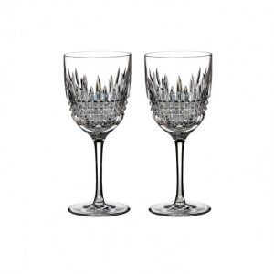 Waterford Lismore Diamond Red Wine Pair
