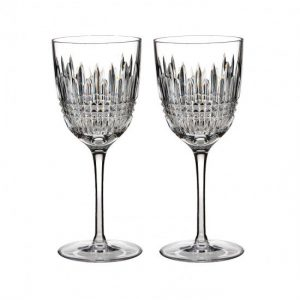 Waterford Lismore Diamond White Wine Glasses