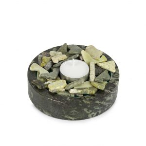 Connemara Marble Pebble Candle