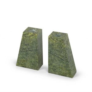 Double Connemara Marble Candle Set