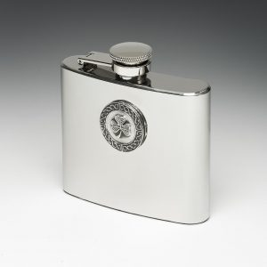 Shamrock Whiskey Flask