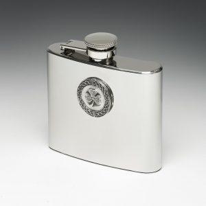Shamrock Whiskey Flask