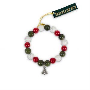 Connemara Marble Christmas Tree Charm Bracelet